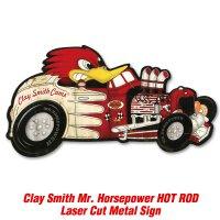 クレイスミス HOT ROD レーザー カット メタル サイン