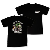 """ラット フィンク モンスター Tシャツ """"Rat Fink Choppers"""" ブラック"""