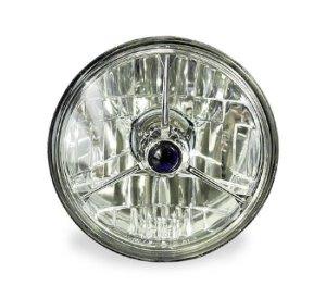 画像1: 3 Pointed ダイヤモンド バックヘッドライト(モーターサイクル用)