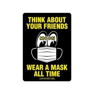 画像2: MOON メッセージ ステッカー Wear A Mask