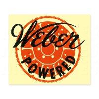 ホットロッド Weber Powered ステッカー