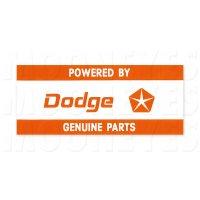 ホットロッド ステッカー POWERED BY Dodge ステッカー