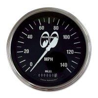 MOON Equipped 4 5/8インチ 140MPH スピード メーター<ブラック>