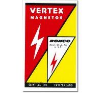 ホットロッド ステッカー VERTEX MAGNETOS ステッカー