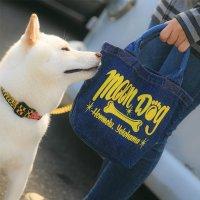 MOON Dog デニム ランチ バッグ