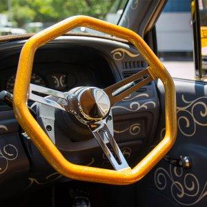画像2: California Metal Flake Octagon Steering Wheel