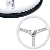 "MOONEYES ORIGINAL ""Finger Grip"" Steering Wheel 38cm(15"") White"