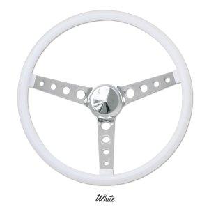 """画像2: MOONEYES ORIGINAL """"Finger Grip"""" Steering Wheel 38cm(15"""") White"""