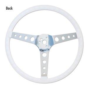 """画像3: MOONEYES ORIGINAL """"Finger Grip"""" Steering Wheel 38cm(15"""") White"""