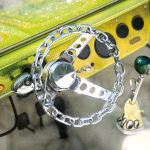 画像1: メッキ チェーン リンク 3スポーク 25cm