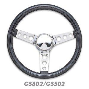 画像2: Grant Classic Cruisin' Black Vinyl steering Wheels 31cm / 34cm
