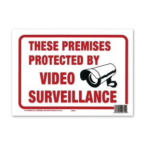 画像1: PROTECTED BY VIDEO SURVEILLANCE (監視カメラ作動中)