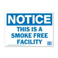 NOTICE SMOKE FREE FACILITY (注意、この施設は禁煙です)