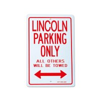 """パーキング サイン ボード """"LINCOLN"""""""