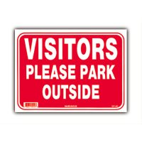 お客様へ。駐車は場外へお願いします。