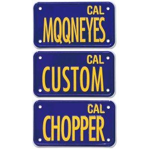 画像1: California Motorcycle ライセンス プレート (ブルー)