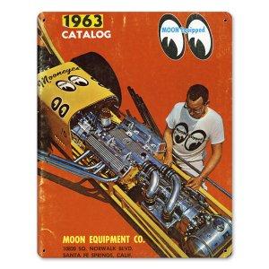 画像1: MOON ビンテージ サイン プレート 1963年 Front Cover