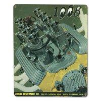 MOON ビンテージ サイン プレート 1968年 Front Cover