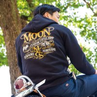 MOON Custom Cycle Shop ジップ フーディー