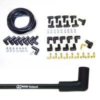 MOON Equipped ロゴ ブラック プラグ ワイヤー セット V8 90度