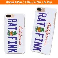 Rat Fink iPhone7 Plus & iPhone6/6s Plus ハード カバー カリフォルニア プレート