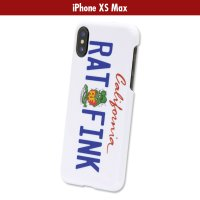 Rat Fink iPhone XS Max ハード カバー カリフォルニア プレート