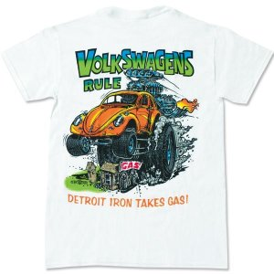 """画像2: ラット フィンク モンスター Tシャツ """"Volks Wagens Rule"""""""