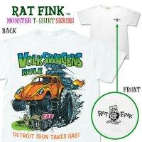 """ラット フィンク モンスター Tシャツ """"Volks Wagens Rule"""""""
