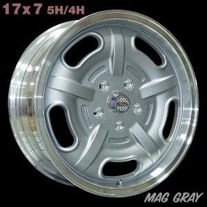 画像1: Speed Master Wheel 17×7 5H/4H【マググレー】