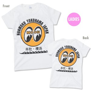 画像1: MOON EYEBALL 本牧 ・ 横浜 Ladies T シャツ