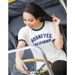 画像1: レディース MOON California トリム Tシャツ