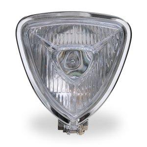 画像2: Chrome Triangle モーターサイクル ヘッドライト