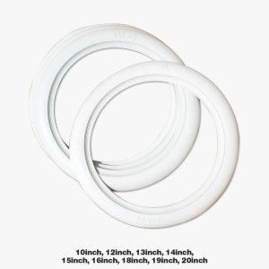 画像1: ホワイトリボン【4枚セット】10インチ、12インチから20インチまでお選びいただけます。