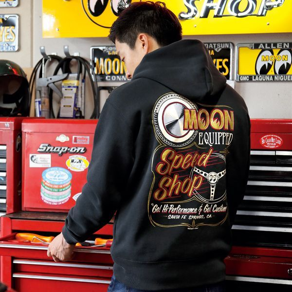 MOON Equipped Speed Shop ジップ パーカー