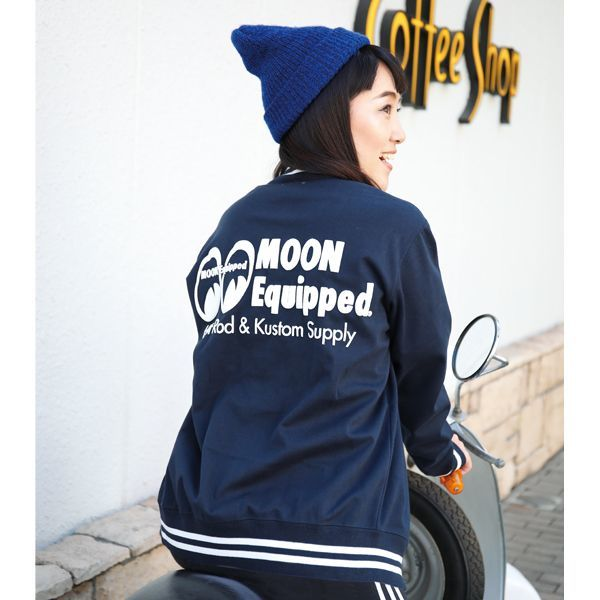 MOON Equipped Logo Stadium Jacket