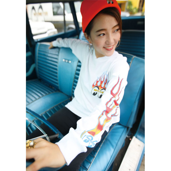Flamin' MOONEYES Long Sleeve T-shirt