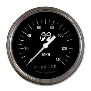 画像: MOON Equipped 3 3/8インチ 140MPH スピード メーター<ブラック>