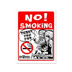 画像: Rat Fink メッセージ ボード NO Smoking