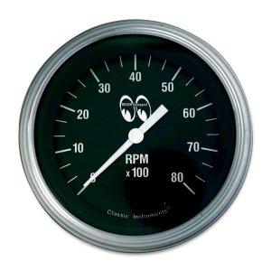 画像: MOON Equipped 3 3/8インチ 6000RPM タコ メーター<ブラック>