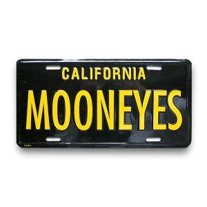 画像: MOONEYES カリフォルニア ライセンス プレート ブラック