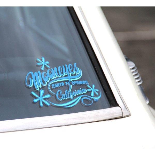 画像2: MOONEYES California Pinstripe Sticker ブルー (2)