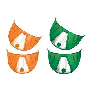 画像: カラーヘッドライトバイザー(グリーン、オレンジ)