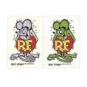 画像: Rat Fink Made in USA ステッカー 9×5.7cm