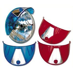 画像: カラーヘッドライトバイザー(ブルー、レッド)