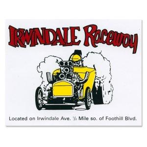 画像: ホットロッド ステッカー IRWINDALE Raceway ステッカ