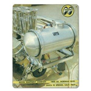 画像: MOON ビンテージ サイン プレート 1973年 Back Cover