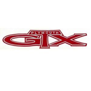 画像: ホットロッド ステッカー PLYMOUTH GTX デカール 抜き文字タイプ