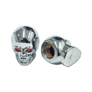 画像: Chromed Skull Air バルブ キャップ