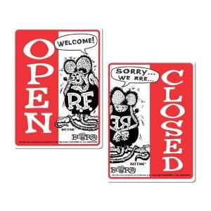 画像: Rat Fink メッセージ ボード OPEN & CLOSED (縦型)