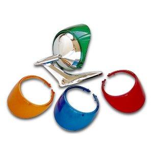 画像: プラスティック製 カラー ミラー バイザー